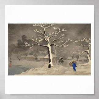 Winter in Japan circa 1915 Poster
