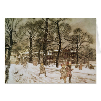 Winter in Kensington Gardens Card