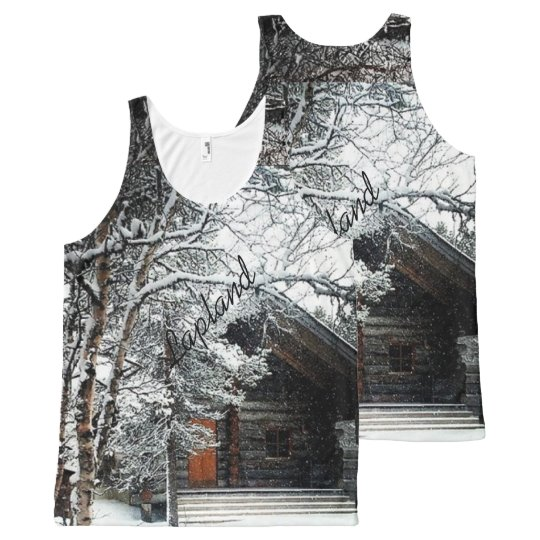 Winter in Lapland, All-Over Printed Unisex Tank, M