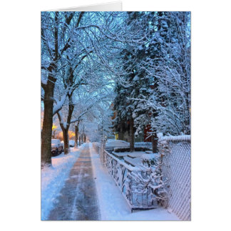 Winter in Montreal Card