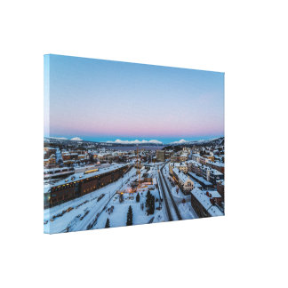 Winter in Narvik Canvas Print