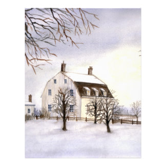 Winter in New England by Farida Greenfield Letterhead