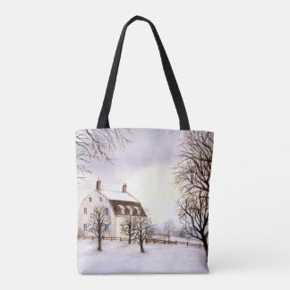Winter in New England by Farida Greenfield Tote Bag