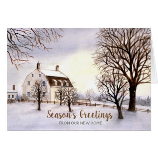 Winter in New England New Home We Have Moved Card