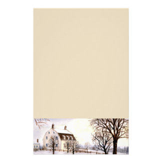 Winter in New England Stationery