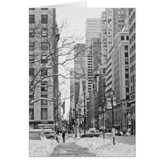 Winter in New York Notecard