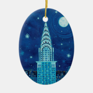Winter in New York Oval Ornament