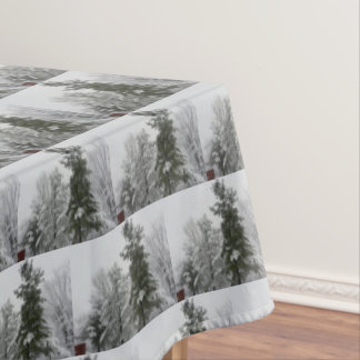WINTER IN OHIO table cloth