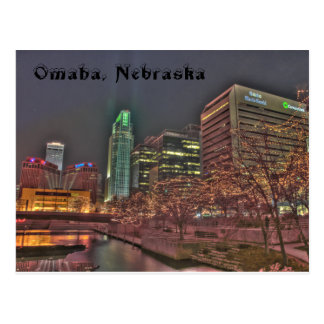 Winter in Omaha Nebraska Postcard