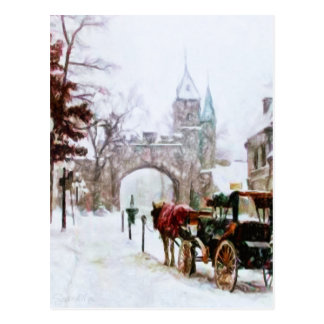 Winter in Quebec City by Shawna Mac Postcard