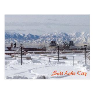 Winter in Salt Lake City Postcard