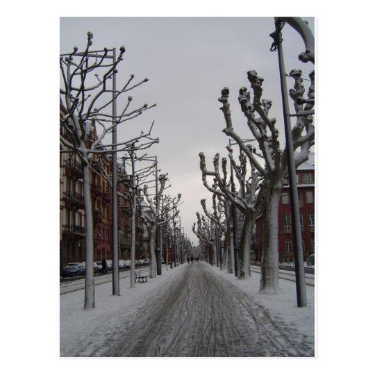 Winter in Strasbourg Postcard