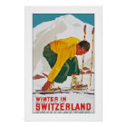 Winter in Switzerland Poster
