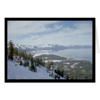 Winter in Tahoe- Song of Sol. 7:5 Greeting Card