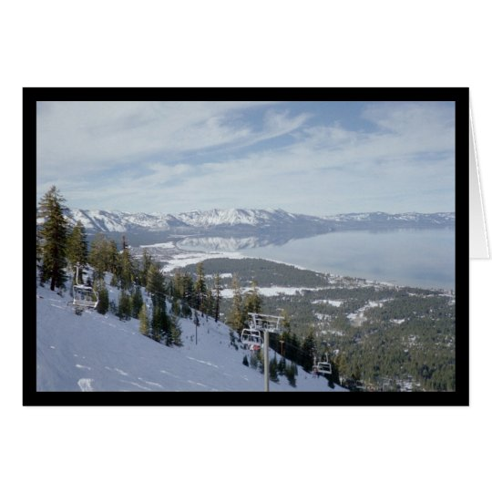 Winter in Tahoe- Song of Sol 8:6 Greeting Card