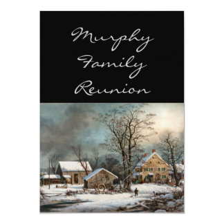 Winter in the Country, A cold  Morning Card