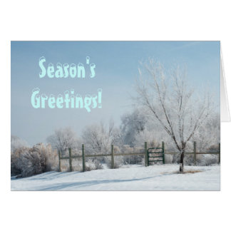 Winter in the Country Greeting Card Template