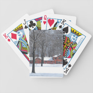 Winter in The Park Bicycle Playing Cards