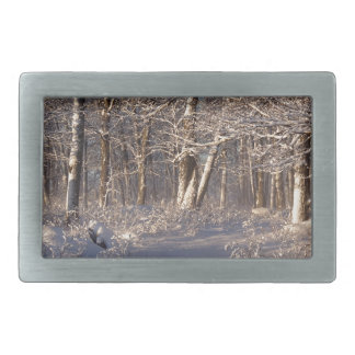 Winter in the Sugar Bush Belt Buckle
