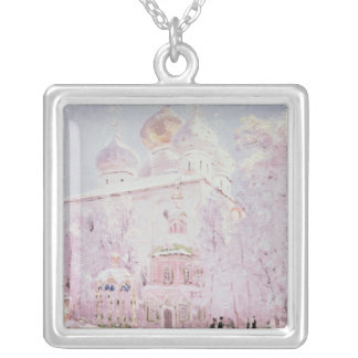 Winter in the Trinity-St. Sergius Lavra Silver Plated Necklace