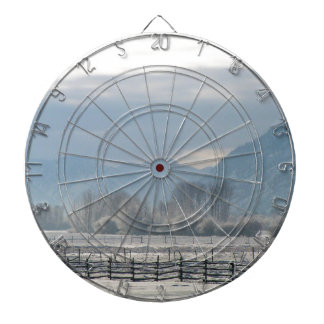 Winter in the valley dartboard