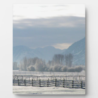 Winter in the valley plaque