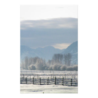Winter in the valley stationery