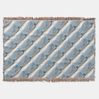 Winter in the valley throw blanket