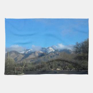 Winter in Tucson Kitchen Towel