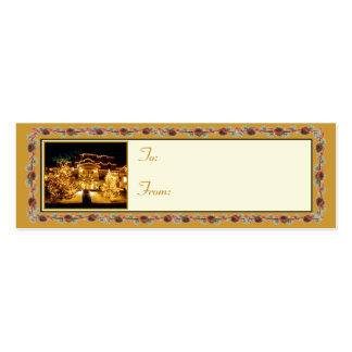 'Winter Inn'  Holiday Gift Tag Mini Business Card