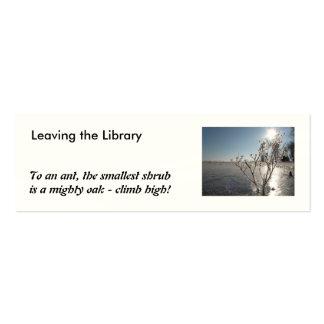 Winter inspiration - Bookmark Mini Business Card