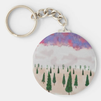 winter is coming basic round button keychain