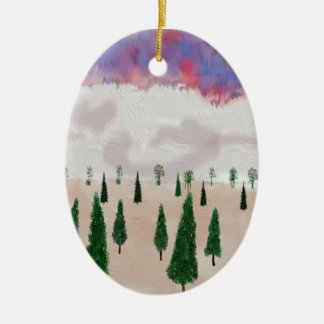 winter is coming ceramic oval ornament