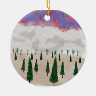 winter is coming round ceramic ornament