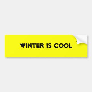 Winter is cool bumper sticker