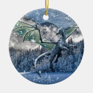 Winter Is Here Ceramic Ornament