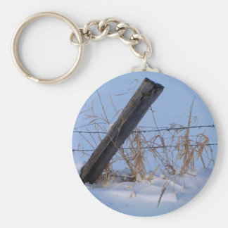 Winter is here in Keremeos Basic Round Button Keychain