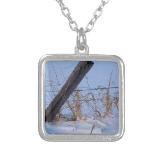 Winter is here in Keremeos Silver Plated Necklace