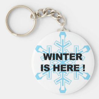 Winter is Here! Liberal Snowflake Basic Round Button Keychain