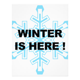 Winter is Here! Liberal Snowflake Customized Letterhead