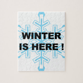 Winter is Here! Liberal Snowflake Jigsaw Puzzle