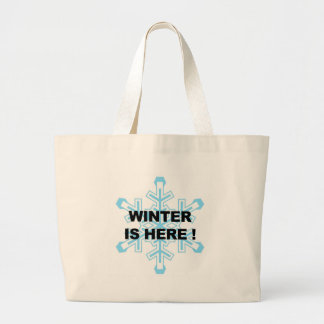 Winter is Here! Liberal Snowflake Large Tote Bag