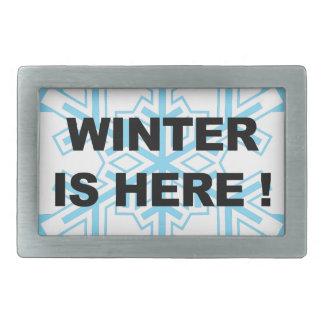 Winter is Here! Liberal Snowflake Rectangular Belt Buckles