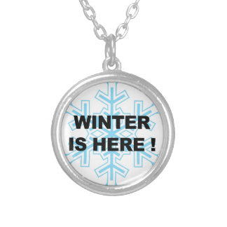 Winter is Here! Liberal Snowflake Silver Plated Necklace