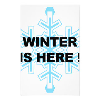 Winter is Here! Liberal Snowflake Stationery