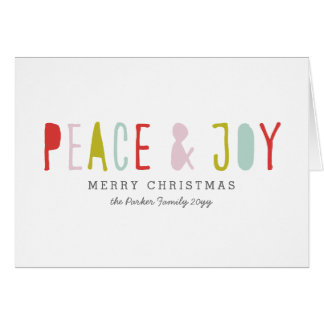 Winter Joy Holiday Card