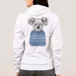 Winter koala hoodie