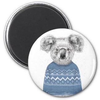 Winter koala magnet