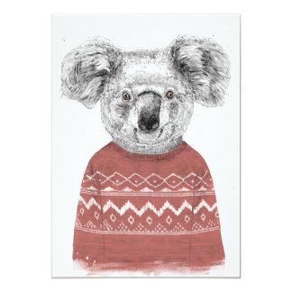 Winter koala (red) card