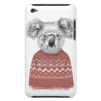 Winter koala (red) iPod touch case